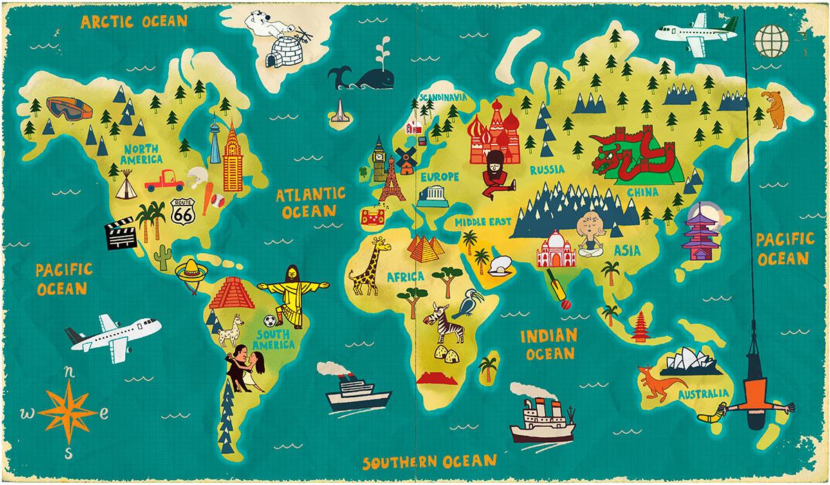 World Map - Paul Thurlby